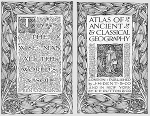 Cover art from the Atlas of Ancient & Classical Geography on the Project Gutenberg site.